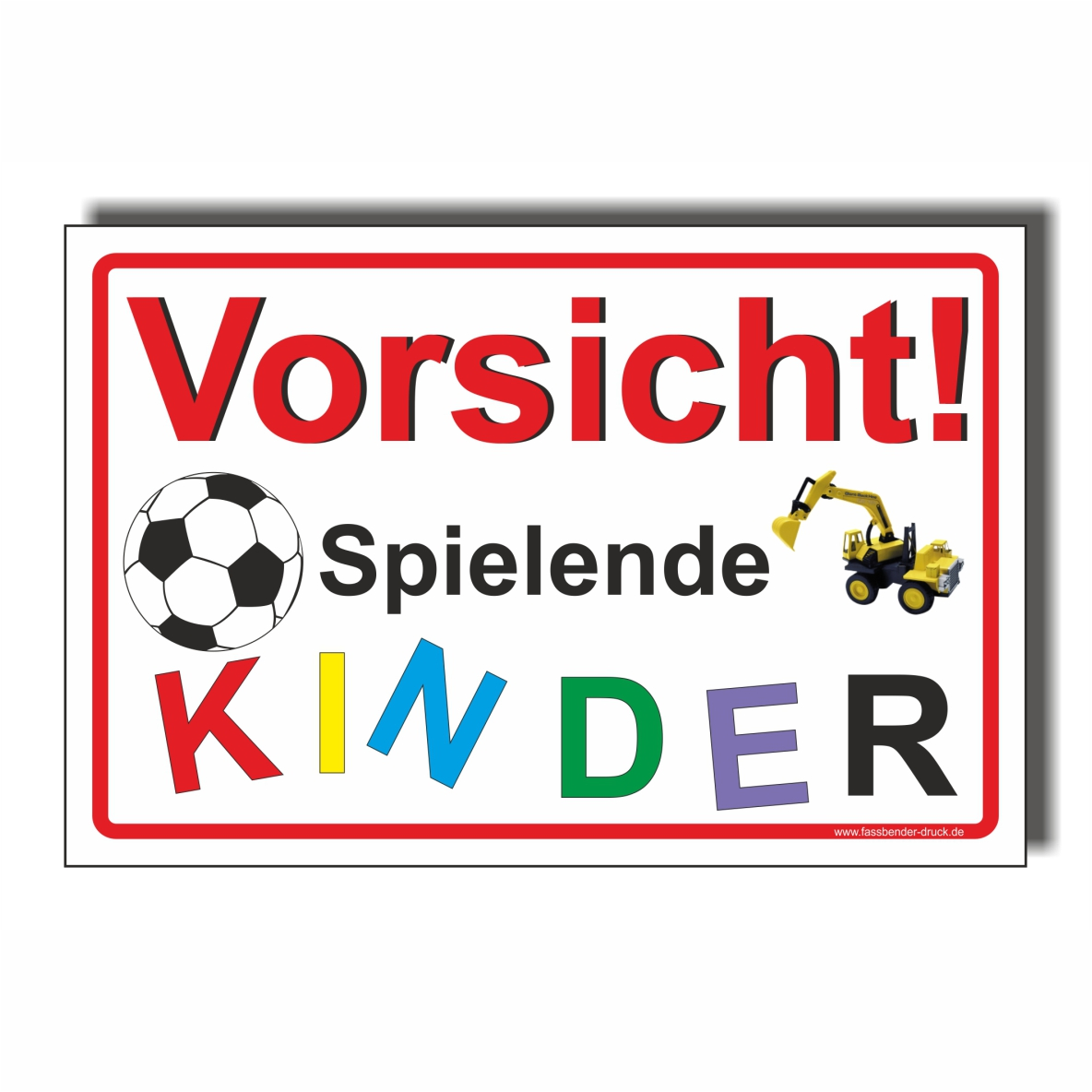 40x60cm schild aufkleber vorsicht spielende kinder. Black Bedroom Furniture Sets. Home Design Ideas